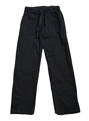 """CHIC FLEX Womens Size Small Black Pull On Cargo Pants Cotton Blend 29"""" Inseam"""