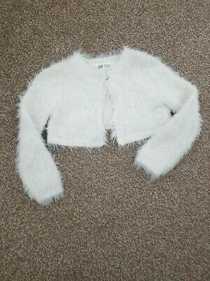 H&M Girls Cream Cropped Cardigan Aged 2-4 Years