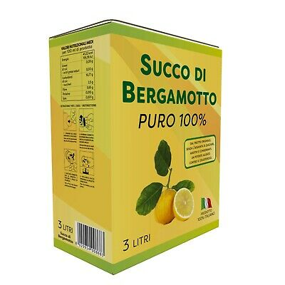 Succo di Bergamotto 100% bag in box 3 Lt