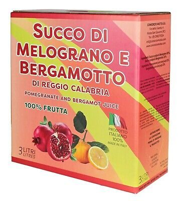 Succo di Melograno e Bergamotto bag in box 3 Lt