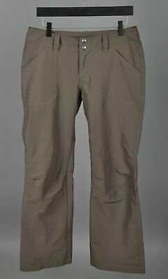 Women's PATAGONIA Brown Polyester/Spandex Tracking Pants Trousers size 6 VGC
