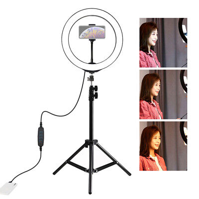 10 Inch LED Ring Light With Stand and Phone Holder Make-up for Camera iPhone UK