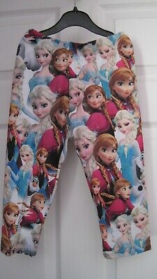 BNWT Girls Disney Frozen Anna/Elsa 3/4 length Leggings Age 5-6 Years