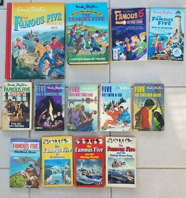 Enid Blyton Famous Five mixed book bundle. Adventure, mystery, George, Timmy