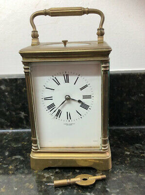 Antique French Repeater Striking Brass Carriage Clock 1900