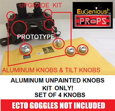 GHOSTBUSTERS ECTO GOGGLES MACHINED ALUMINUM KNOBS (SET OF 4 ) GB FedEx SHIPPING
