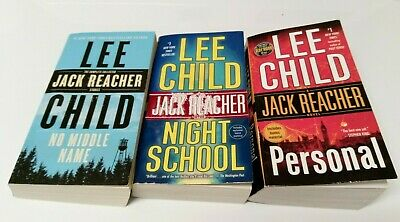 Three mystery paperback novels featuring Jack Reacher by Lee Child