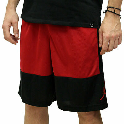 Nike Air Jordan Dri-Fit Basketball Shorts Red Black AR2833-010 Men's NWT
