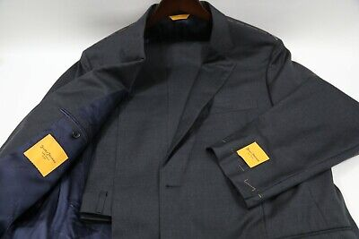 #907  Hickey Freeman Gray Beacon Two Button Suit Size 46 L