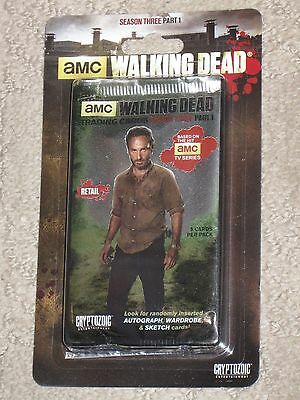 Sealed Retal Walking Dead Trading Cards Blister Pack Season 3 Part 1
