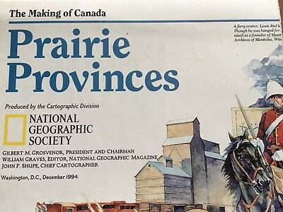 Priarie Provinces Map National Geographic Insert Map Only The Making Of Canada