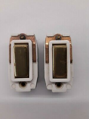 Crabtree Bronze 5A 2 Way Light Switch 250V Rockergrid Grid Switch AC Only 2530//9