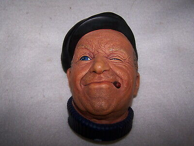 """Bossons Chalk Ware Hand Painted Head England """"Boatman"""" C. 1967 #1012"""
