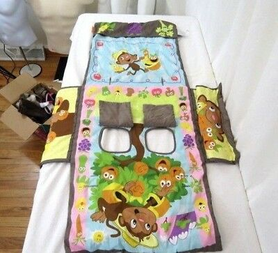 Infantino Shop & Play Baby Toddler Shopping High Chair Cover Monkeys Garden