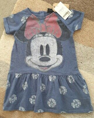 BNWT Next Girl's Minnie Mouse Dress Age 18-24 Months