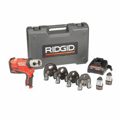 "Ridgid RP 240 Battery Press Tool Kit ProPress Jaws For 1/2"" to 1-1/4"" Copper &"