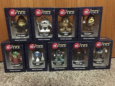 M&Ms STAR WARS MPIRE HOLIDAY ORNAMENTS ~ by Kurt S Adler ~ Lot of 9 ~ NEW