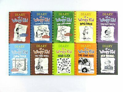 Diary of a Wimpy Kid by Jeff Kinney Hardcover Set Books 1-10