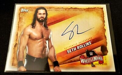 Seth Rollins 2020 Topps WWE Road to Wrestlemania SP On-Card Autograph #d /99