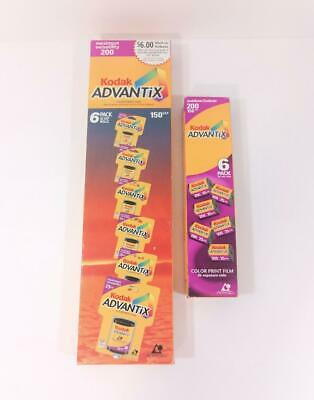 Lot of Expired KODAK ADVANTIX FILM 12 rolls 300 exposures 200 ISO 2 Six-Packs