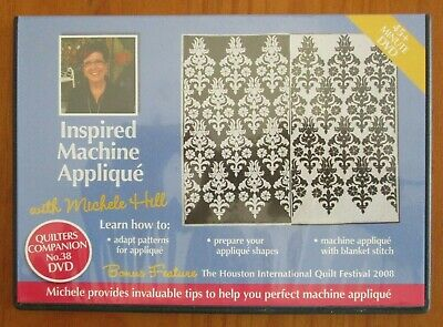 Instructional DVD Quilters Companion 38 INSPIRED MACHINE APPLIQUE craft sewing