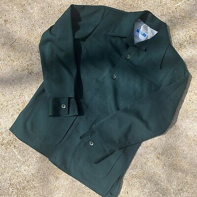 Vintage 1970s Green Time Out by FARAH Leisure Suit Shirt / Jacket Top Only NICE