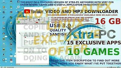 Xtra-PC PRO 16GB USB3.0+YOUTUBE & MP3 DOWNLOADER, 15 EXCL APPS,XTRA PC, EXTRA PC
