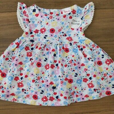 NEW Sprout Dress And Bloomer 000 Floral 3 Months Baby girl