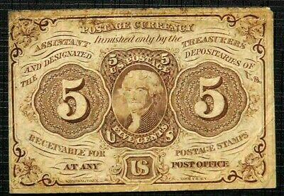 5 Cents 1862 UNITED STATES Fractional Postal Currency First Issue (606)