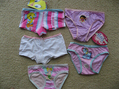 Girls Dora Pony Princess Tweety 3 Brief 2 Shortie Underwear size 3-4 New