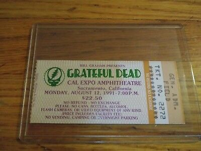Grateful Dead Ticket, 08/12/1991, Cal Expo, Sacramento, California