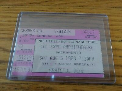 Grateful Dead, Concert Ticket Stub, 08/05/1989, Cal Expo, Sacramento