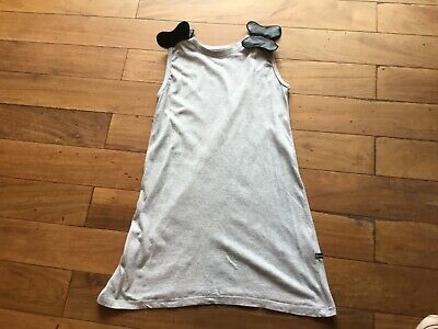 girls The Brand dress grey with black butterflies on shoulder age approx 6 years