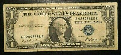 1957 UNITED STATES Silver Certificate Blue Seal 1 Dollar  (259K)