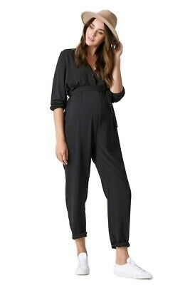 Pea in a Pod Maternity Cleo Crossover Jumpsuit Size M RRP $129 Black BNWT NEW EC