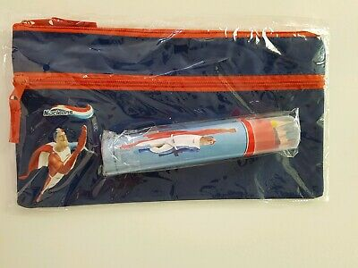 BNIP Macleans Large Pencil Case and Tube of 12 Coloured Pencils Toothpaste Promo