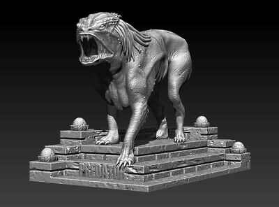 Predator Dog Model, File STL, for 3D Printing FDM-FFF DLP-SLA-SLS