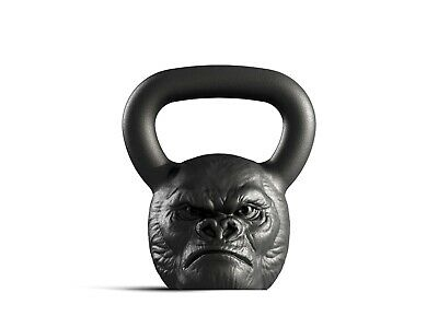 Designer Cast Kettlebell Iron Gorilla Head Russian Weight 16kg 35lb