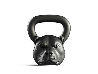 Designer Cast Kettlebell Iron Pitbull Head Russian Weight 16kg 35lb