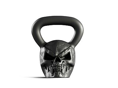 Designer Cast Kettlebell Iron Skull Head Russian Weight 16kg 35lb