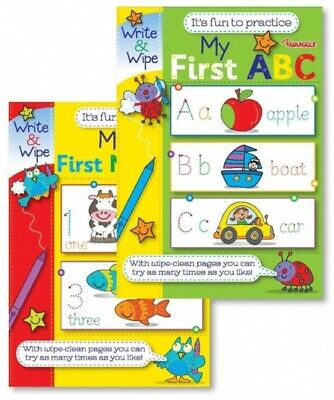 Children Activity Educational abc My First Write & Wipe Numbers &  ABC Learning