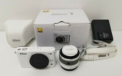 Nikon 1 J2 10.1MP White Digital Camera & Nikkor 10-30mm Lens, Cover, Strap & Box