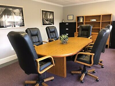 Beautiful Conference Room Table And Chairs Set, Credenza/Hutch, Wallart!