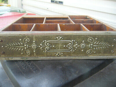 Very Old Cash Register Draw With Engraved Metal Front