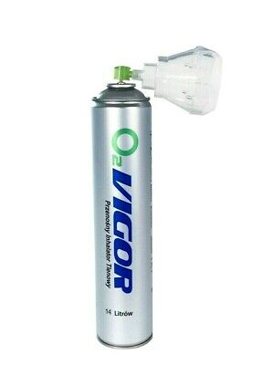 Pure Oxygen In A Can With Inhaler Cap 14 L