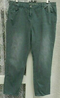 """( Ref 3238 ) Next - Size 16 R W 38"""" - Ladies Green Straight Leg Jeans / Trousers"""
