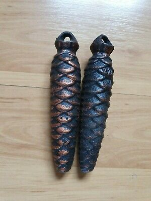 Pair Of Cuckoo Clock Pine Cone Weights Spare Parts