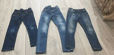 Boys skinny Jeans Bundle Next River Island Age 4-5 Years