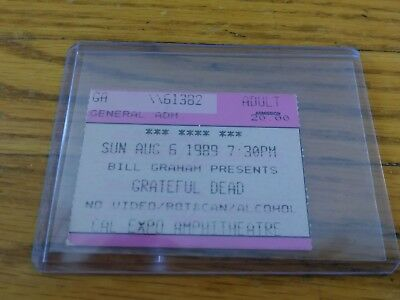 Grateful Dead, Concert Ticket Stub, 08/06/1989, Cal Expo, Sacramento