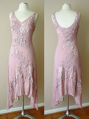 Sue Wong Silk Beads Sequins Embroidered Evening Cocktail Dress Gown Wedding Prom